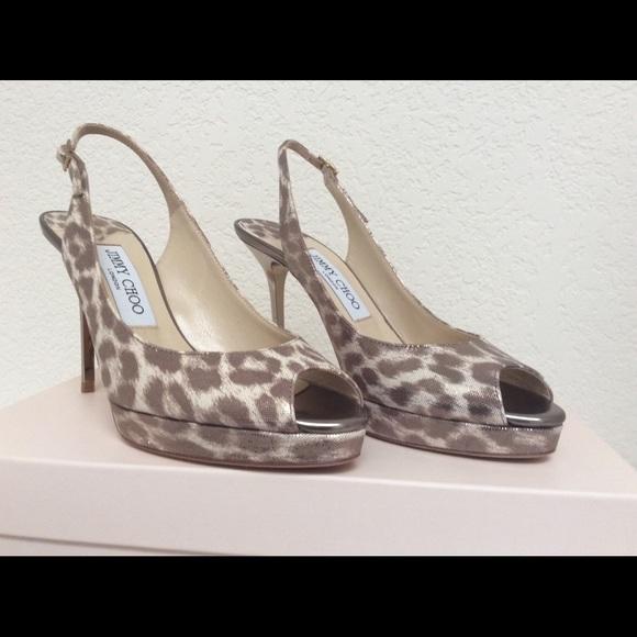 034d800f207 Jimmy Choo Shoes | Nwt Nova Leopard Peep Toe Sandals | Poshmark